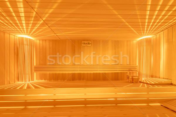 ストックフォト: ホット · 木製 · サウナ · ルーム · インテリア · 水