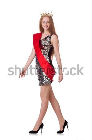 Stock photo: Woman waitress in oktoberfest concept
