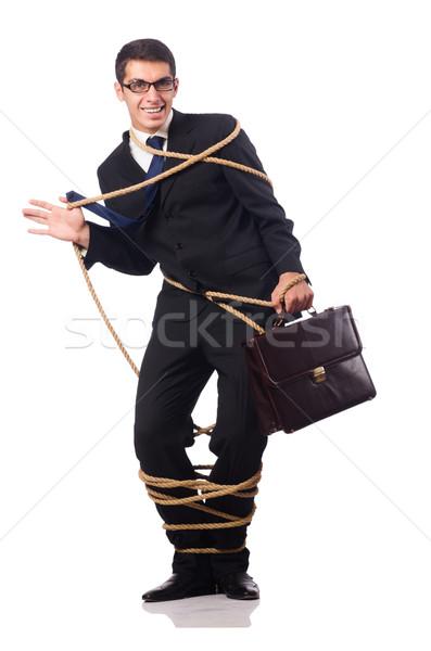 ストックフォト: ビジネスマン · 孤立した · 白 · オフィス · 作業 · セキュリティ