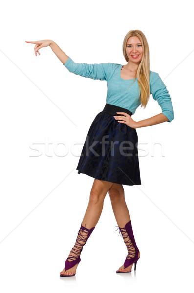 Capelli ragazza buio blu gonna Foto d'archivio © Elnur