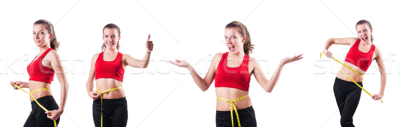 сантиметр диеты женщину девушки здоровья Сток-фото © Elnur