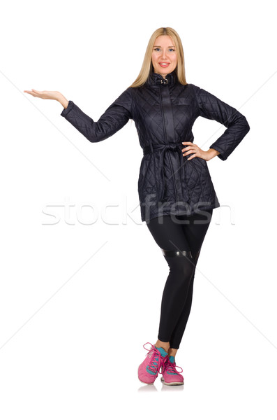 Pretty caucasian girl wearing sporty style isolated on white Stock photo © Elnur