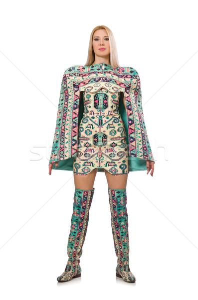 モデル 着用 ドレス カーペット 要素 孤立した ストックフォト © Elnur