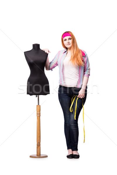 Funny sastre aislado blanco mujer moda Foto stock © Elnur