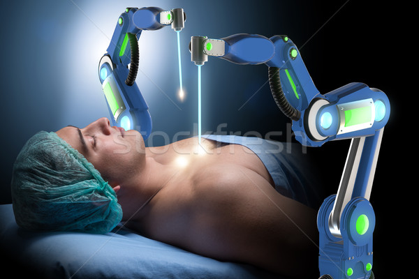 The surgery performed by robotic arm Stock photo © Elnur