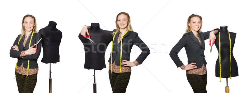 Mulher alfaiate isolado branco negócio menina Foto stock © Elnur