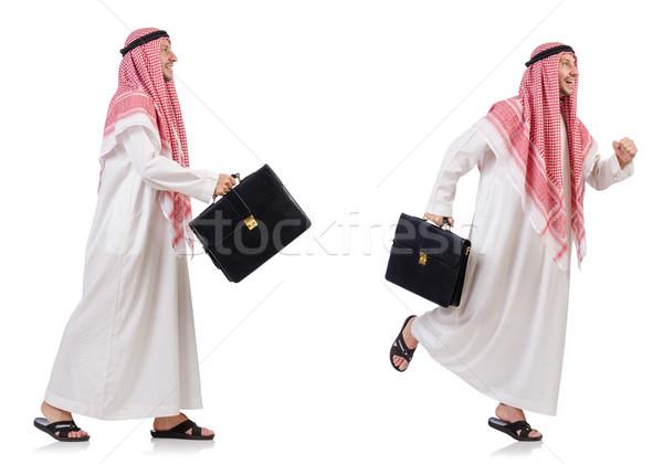 Arab man isolated on white background Stock photo © Elnur