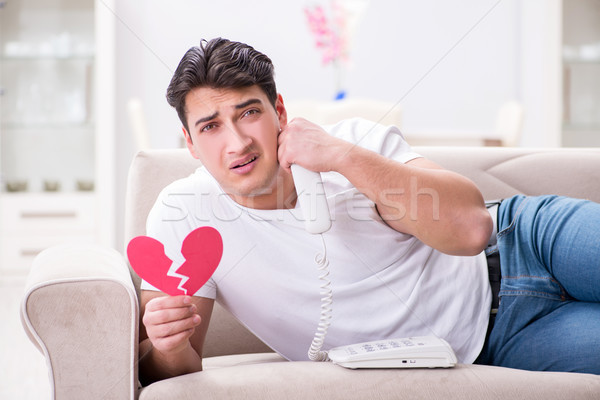 The young man in sad saint valentine concept Stock photo © Elnur