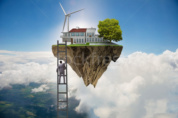 Man escaping to green environment Stock photo © Elnur