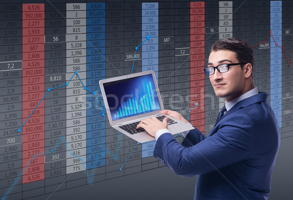 üzletember kereskedő tőzsde internet férfi munka Stock fotó © Elnur
