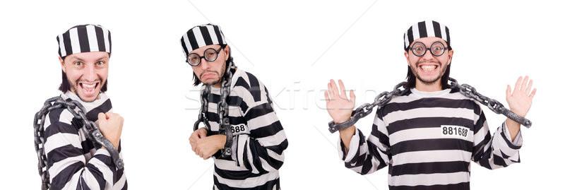 Gevangenis bewoner geïsoleerd witte man leuk Stockfoto © Elnur
