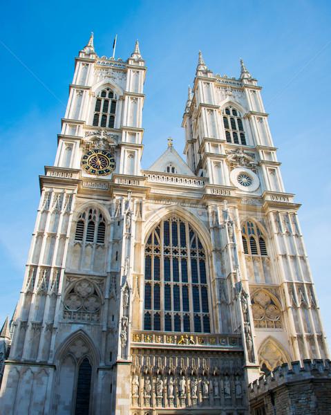 Westminster manastır parlak yaz gün gökyüzü Stok fotoğraf © Elnur