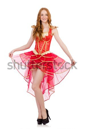 Woman in eastern dress isolated on white Stock photo © Elnur