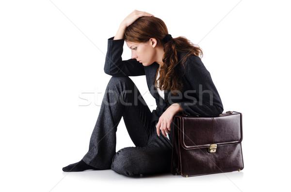 деловая женщина изолированный белый служба лице Сток-фото © Elnur