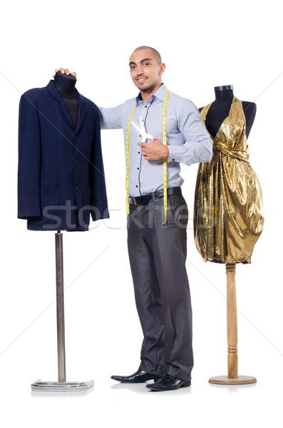 Su misura isolato bianco uomo moda lavoro Foto d'archivio © Elnur