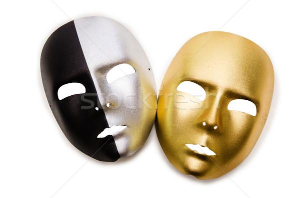 Błyszczący maski odizolowany biały twarz tle Zdjęcia stock © Elnur