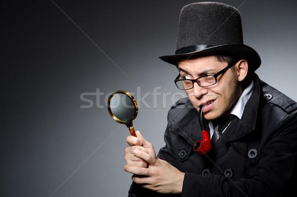 Engraçado detetive tubo seis olho cara Foto stock © Elnur