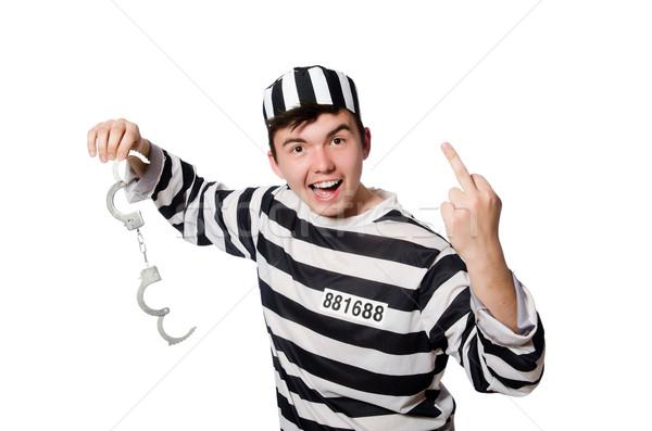 Komik hapis tutuklu polis top özgürlük Stok fotoğraf © Elnur