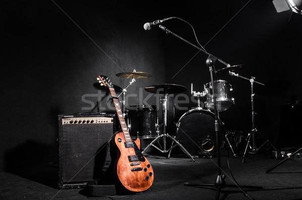 Stock photo: Set of musical instruments during concert