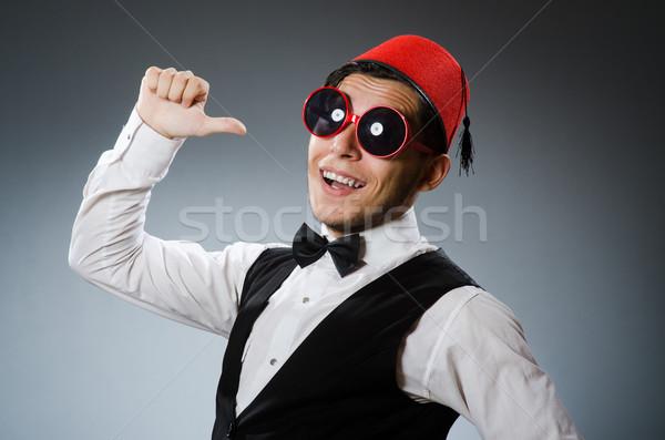 Man traditioneel turks hoed mode Stockfoto © Elnur
