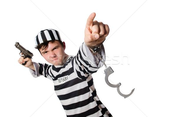 Vicces börtön bennlakó kéz rendőrség öngyilkosság Stock fotó © Elnur