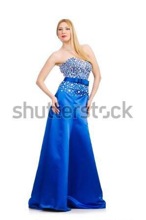 Nő divat ruházat lány modell kék Stock fotó © Elnur