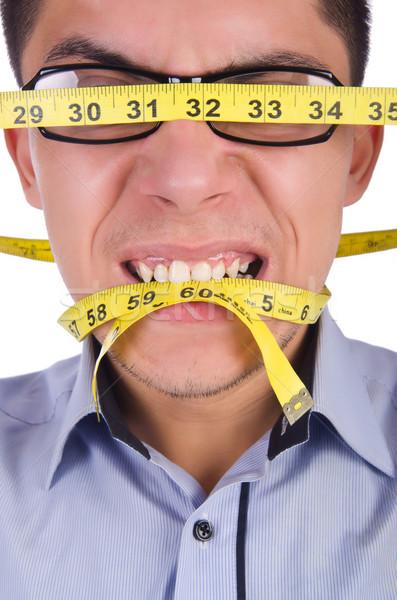 Homme centimètre régime corps santé grasse Photo stock © Elnur