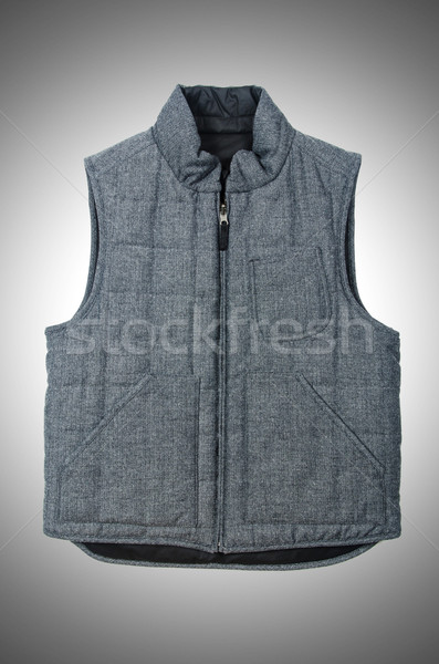 Vest geïsoleerd witte achtergrond winter patroon Stockfoto © Elnur