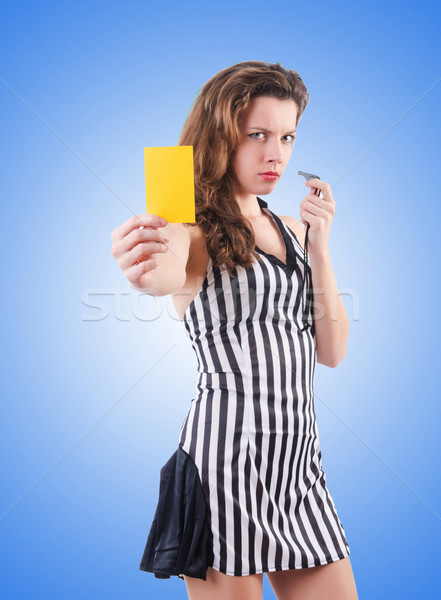 Woman judge against the gradient  Stock photo © Elnur