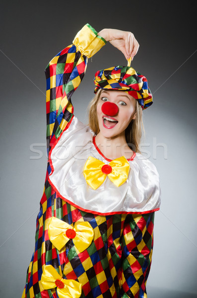 Clown divertente felice divertimento Hat vacanze Foto d'archivio © Elnur