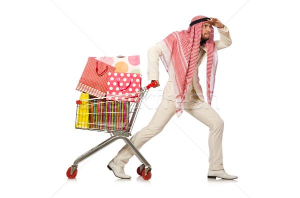 Arab uomo shopping isolato bianco business Foto d'archivio © Elnur