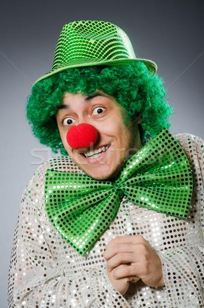Komik kişi aziz tatil gülümseme palyaço Stok fotoğraf © Elnur