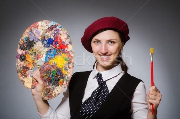 Woman artist in art concept Stock photo © Elnur
