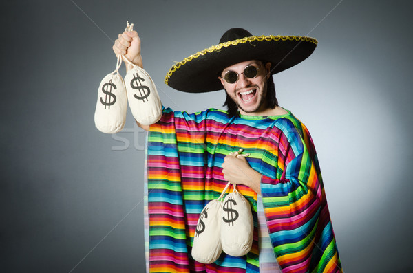Mexican man with money sacks Stock photo © Elnur
