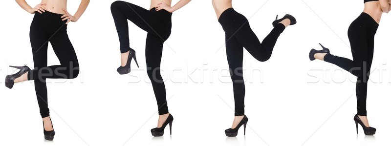 The black leggings in beauty fashion concept isolated on white Stock photo © Elnur