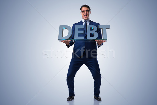Man struggling with high debt Stock photo © Elnur