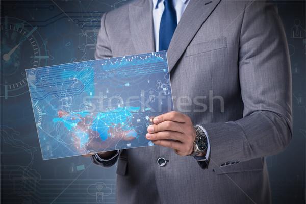 данные горно бизнесмен компьютер сеть веб Сток-фото © Elnur