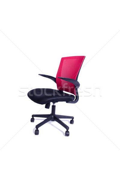 赤 事務椅子 孤立した 白 オフィス デザイン ストックフォト © Elnur