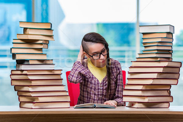 Young female student preparing for exams Stock photo © Elnur