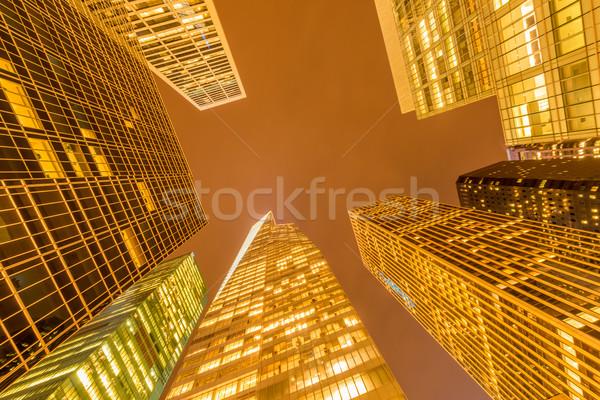 Nacht nieuwe Manhattan zonsondergang business Stockfoto © Elnur
