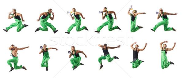 Saltando dança construção discoteca verde Foto stock © Elnur