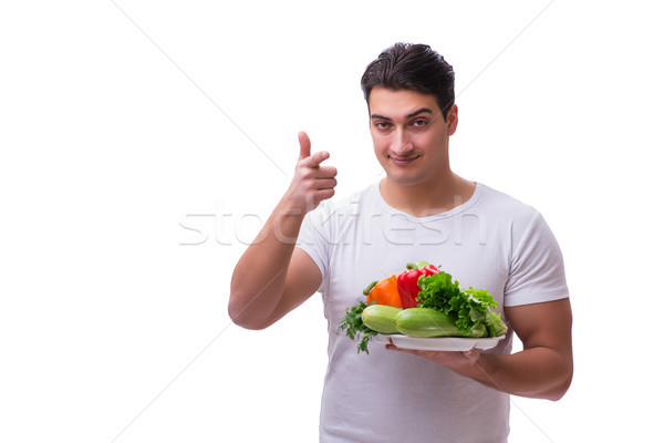 Man in healthy eating concept Stock photo © Elnur