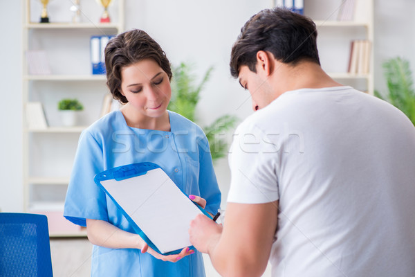 Man visiting female doctor in medical concept Stock photo © Elnur