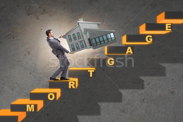 Zakenman hypotheek schuld financiering geld man Stockfoto © Elnur