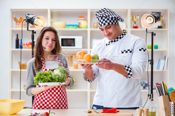 Food cooking tv show in the studio Stock photo © Elnur