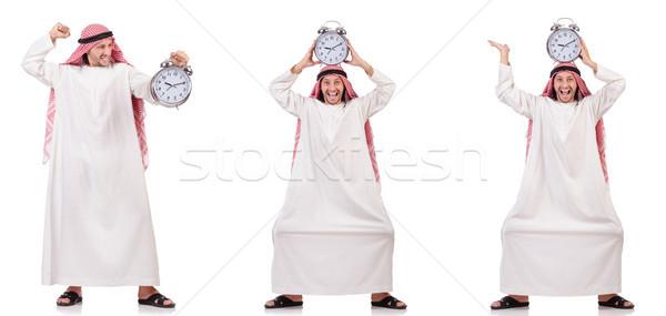 арабских человека время белый счастливым работу Сток-фото © Elnur