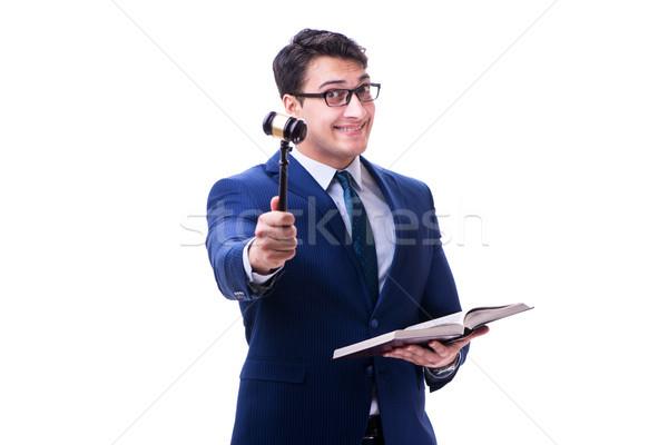 Advogado lei estudante gabela isolado branco Foto stock © Elnur