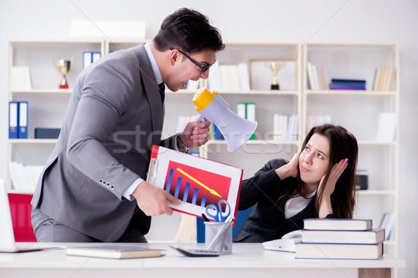 служба конфликт человека женщину работу бизнесмен Сток-фото © Elnur