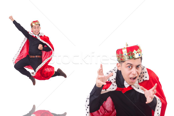 Empresário coroa isolado branco homem diversão Foto stock © Elnur