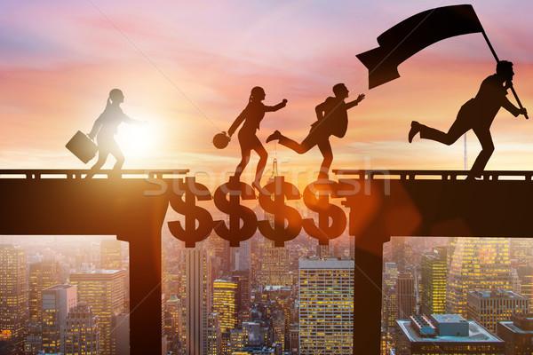 The financial concept crossing dollar bridge Stock photo © Elnur
